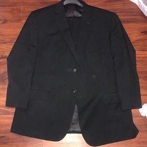 NWOT Black Pronto Uomo Suit Mens Wearhouse 48r x42